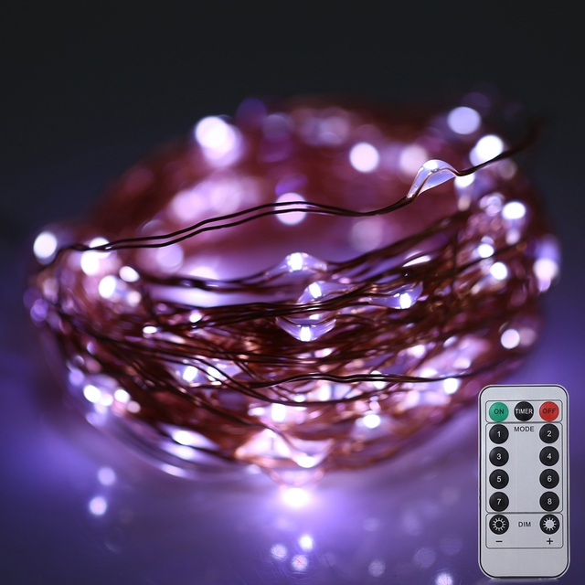 10m 100 leds battery operated copper wire fairy led string light indoor outdoor christmas decoration lights - Professional Outdoor Christmas Decorations