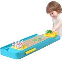 Parent-Child Kids Toys Desk Toys for Children Education Mini Bowling Games Baby Decompression Balls Board Game Table Tabletop(China)