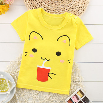 Softu Summer Baby Boys T Shirt Cartoon Car Print Cotton Tops Tees T Shirt for Boys Kids Children Outwear Clothes Tops 2-8 Year Boys T Shirts