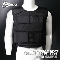 AA SHIELD Bullet Proof Vest Plate Carrier Aramid Core Ballistic Body Armor Insert Self Defense Supply Level NIJ IIIA L Black