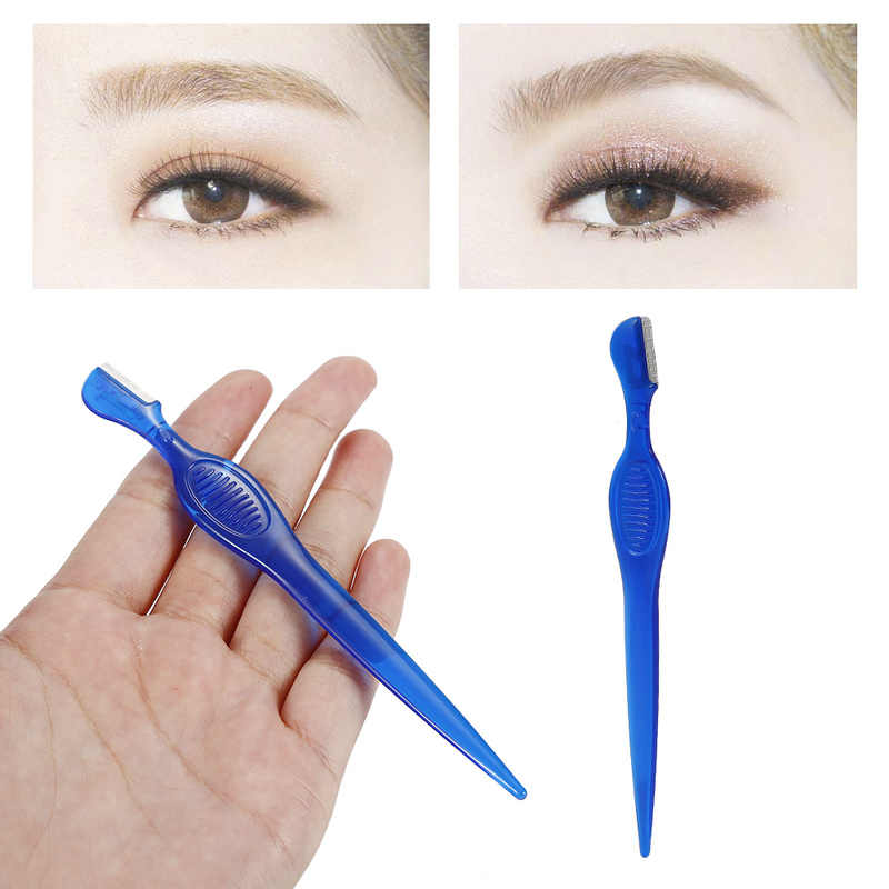 Eyebrow Trimmers Women Facial Face Razor Blades Shaver Knife Blade Eye Brow Shaping Hair Remover Tool Makeup Accessories TSLM2
