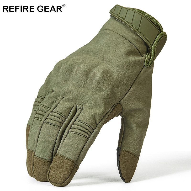 ReFire Gear Outdoor Camouflage Camping Gloves Men Army Tactical Full Finger Spory Gloves Male Special Force Hunting Hiking Glove