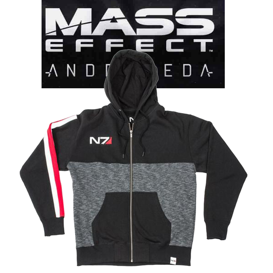 M-3XL Mass Effect N7 Zipper Jacket Sweatshirts Fleece Hoodie Coat Casual Sweatshirts Men Fashion Hoodiec Cosplay