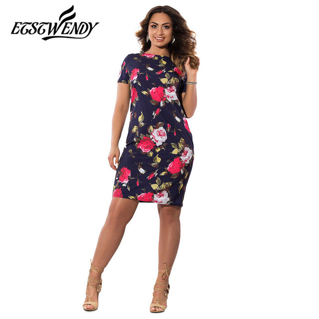 New 5XL 6XL Large Size 2019 Autumn Dress Big Size Flowers Print Dress Straight Elegant Dresses Plus Size Women Clothing Vestidos