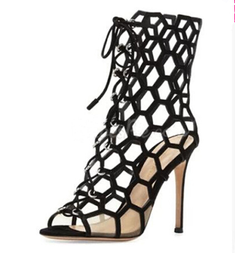 45d4587d4f84 Sestito 2018 Ladies Sexy Cut outs Summer Gladiator Sandals Girls Stiletto High  Heels Dress Shoes Woman Peep Toe Cover Heels-in High Heels from Shoes on ...