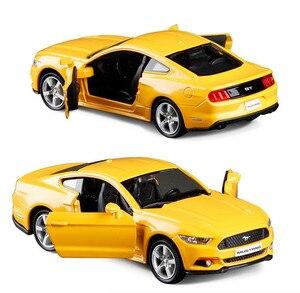 Image 2 - 1:36 legering trek auto modellen, hoge simulatie Ford Mustang 2015GT speelgoed, speelgoed voertuigen, educatief speelgoed, gratis verzending