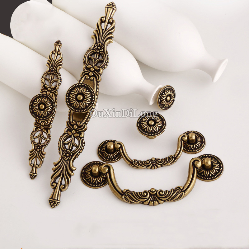 Retro Vintage 10PCS European Antique Kitchen Door Furniture Handles Cupboard Drawer Wine Wardrobe Cabinet Pulls Handles & Knobs толстовка женская в военном стиле full zipp swetshirt deha