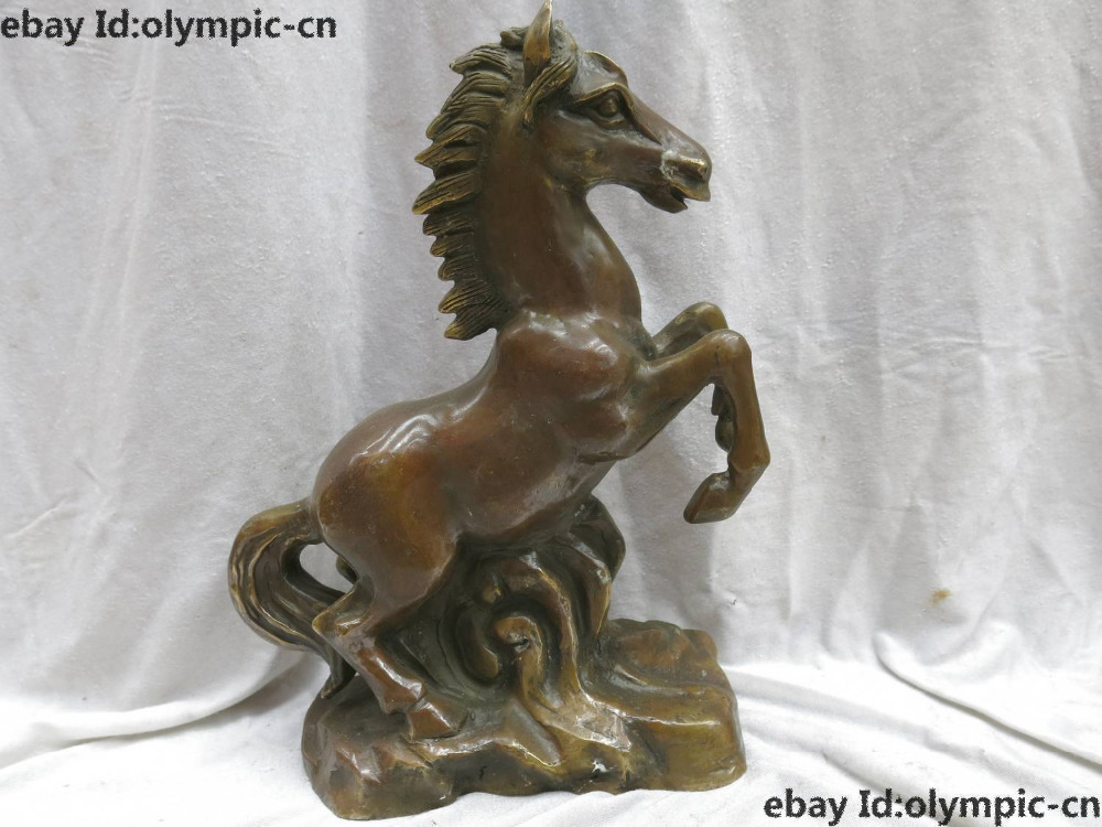 13 China brass Feng Shui copper Money drawing good fortune Horse Statue13 China brass Feng Shui copper Money drawing good fortune Horse Statue