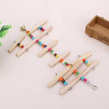 Wooden Birdcage Accessories Pet Parrot Toys Hanging Hammock Gnawing Swing Toys for Parakeet Budgie Cockatiel Bird Toy