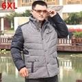 Плюс размер вниз пальто большой размер зимний мужской одежды верхняя одежда Больших ярдов Удобрений увеличились пуховик Полные люди свободно пальто