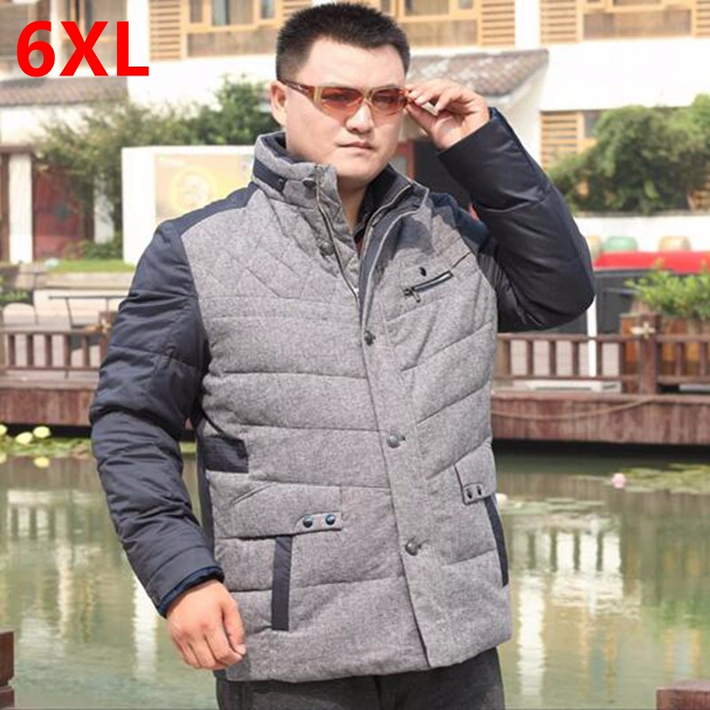plus size down coat big size winter mens clothing outerwear Big yards Fertilizer increased down jacket Fat people loose coat