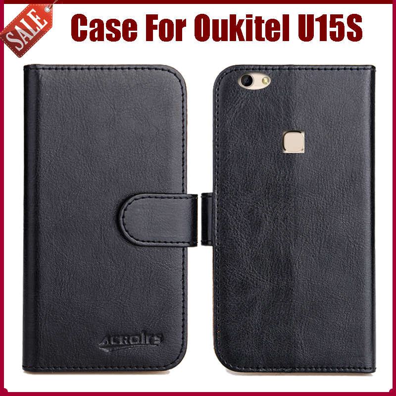 Oukitel U15S Case New Arrival 6 Colors High Quality Flip Leather