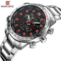 NAVIFORCE 2017 Top Brand Luxury Sport Men S Clock New Fashion Casual Wristwatch Dual Display Date