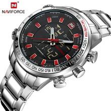 NAVIFORCE Top Marque de luxe Montres Hommes En Acier Étanche Mode Sport Mens Montres Extérieure Horloge Mâle Relogio Masculino