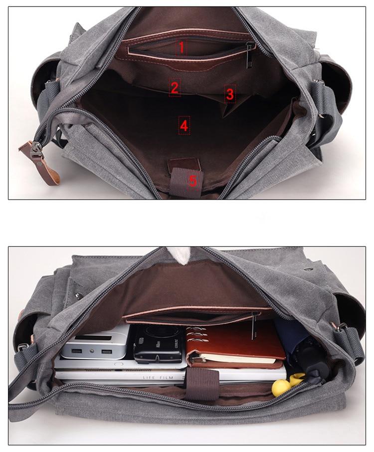 HTB1hvNYbEvrK1RjSspcq6zzSXXaQ 2019 Brand Designer Men's Briefcase Canvas Crossbody Bags for men 14 Inch Laptop Shoulder Bags Buisness Office Men Messenger Bag