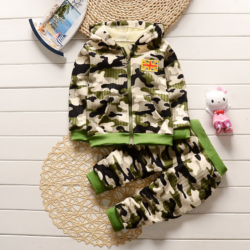 Autumn Winter Newborn Outwear Baby Clothes Set Baby Boy Clothes Camouflage Hooded Top+Pants Infant Clothing Costume Long Sleeve cotton baby rompers set newborn clothes baby clothing boys girls cartoon jumpsuits long sleeve overalls coveralls autumn winter