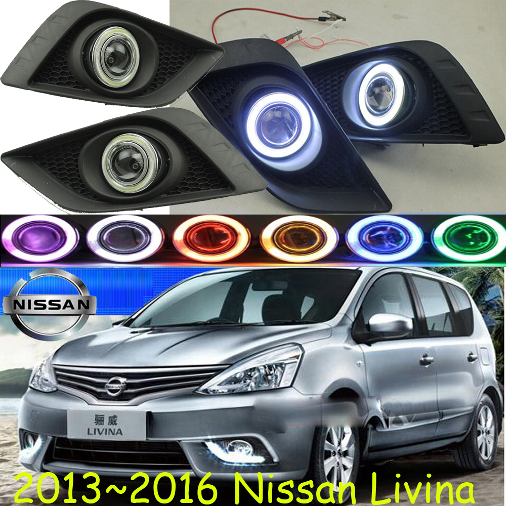 Livina fog light 2013~2016 Free ship!Livina daytime light,2ps/set+wire ON/OFF:Halogen/HID XENON+Ballast,Livina teana fog light 2pcs set led sylphy daytime light free ship livina fog light