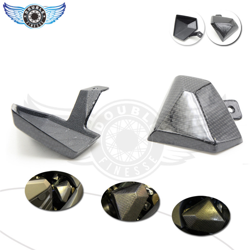 ФОТО 2015 new listing motorcycle accessories titanium color motorcycle carbon fiber body cover cnc aluminum for kawasaki z800