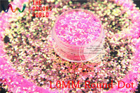 TCR339 American Fantasy Iridescent Pink Gold Glitter Dust Round Dot Shape For Nail Art Or Other