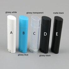 10x4 г портативные губные тюбики пластиковые пустые овальные тюбики для бальзама для губ контейнеры для дезодорантов глянцевые матовые многоразовые бутылочки губная помада