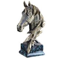 Horse ornaments, resin crafts, imitation wood carvings, home decorations, souvenirs(A903)