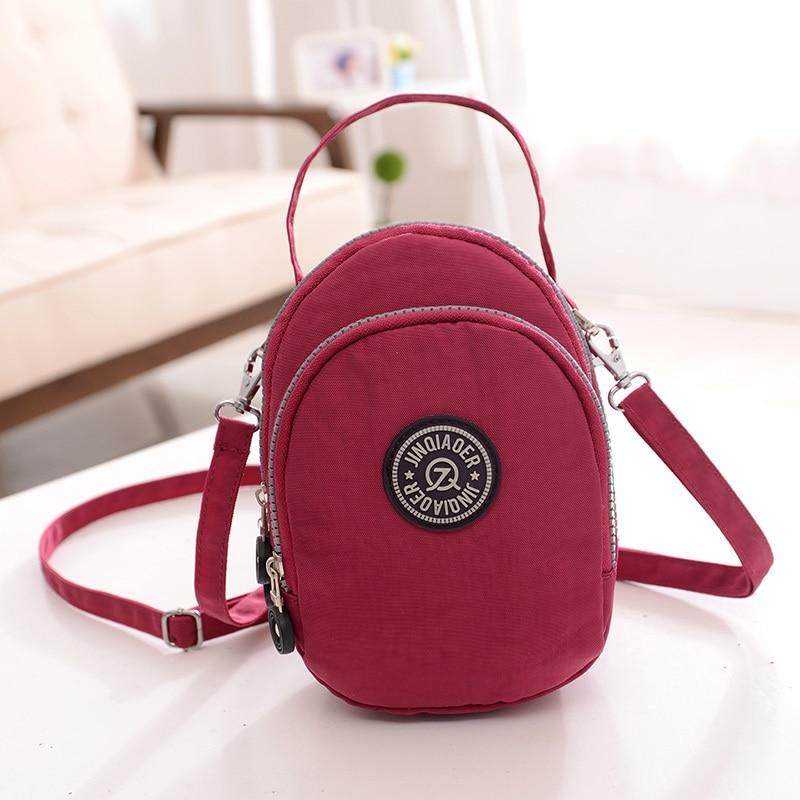 여성 메신저 가방 여성 나일론 가방 어깨 가방 여성 가방 bolsa feminina 작은 빛 컬러 방수 여행 가방