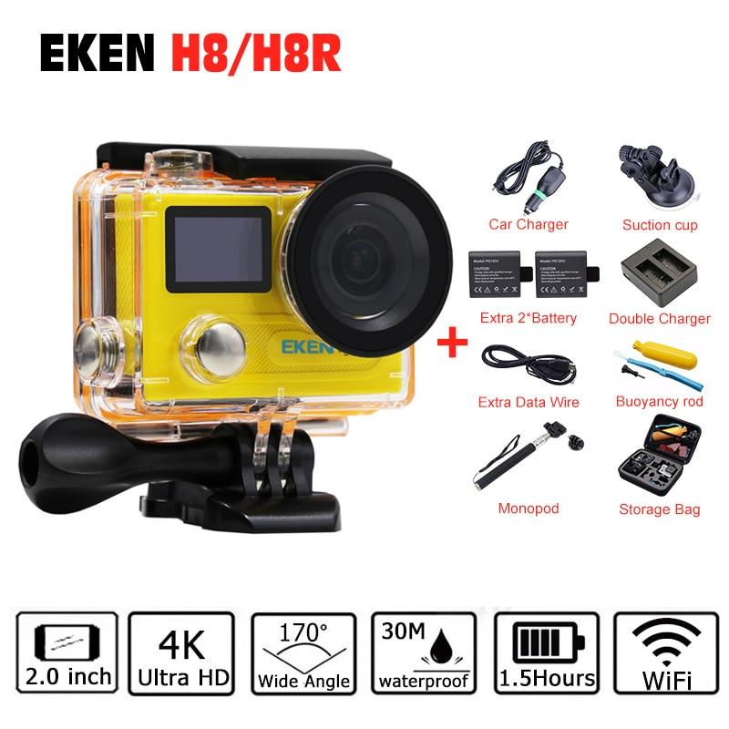 Original EKEN H8 H8R VR360 H8 PRO Ambarella A12 Action Camera 4k/30fps Mini Cam Go 30M Waterproof Pro Sports Camera Hero 5 Style