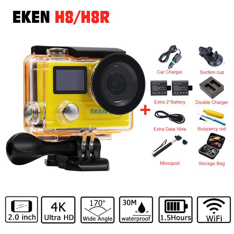 Original EKEN H8 H8R VR360 H8 PRO Ambarella A12 Action Camera 4k/30fps Mini Cam Go 30M Waterproof Pro Sports Camera Hero 5 Style