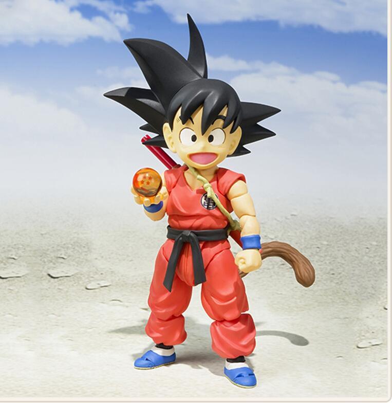 SHF Dragon Ball Z Young Son Gokou BJD Flying Nimbus Action Figure Model Toys