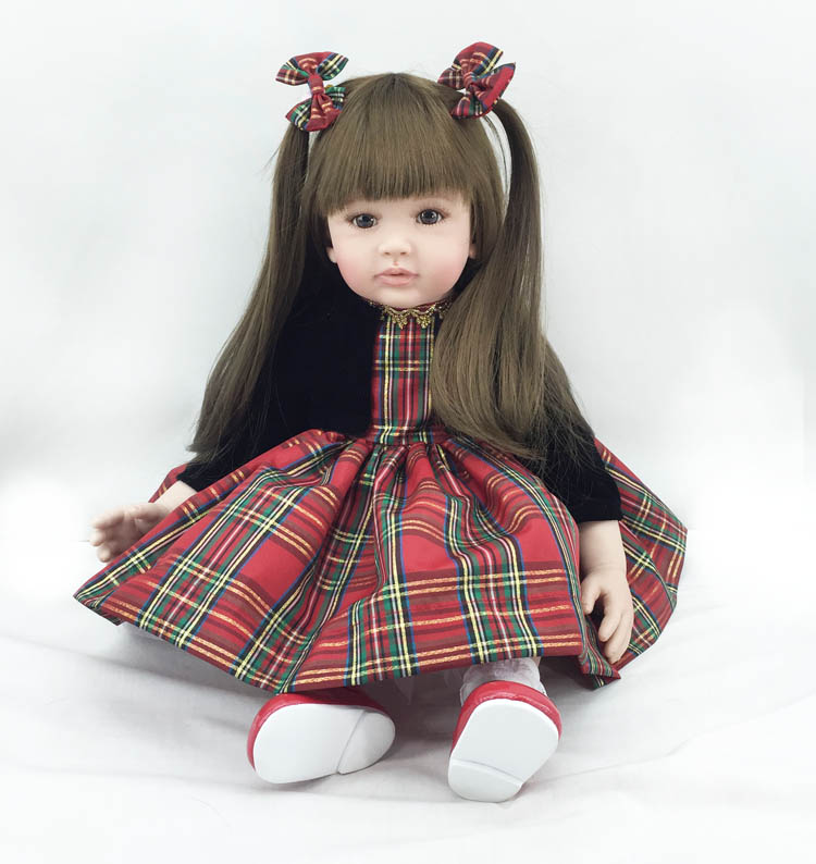 The new reborn vinyl silicone baby dolls accompany handmade lifelike princess toddler doll kid christmas new year boutique gifts new 22 55cm silicone reborn baby dolls accompany sleeping princess girl doll toy handmade lifelike christmas gift brinquedos