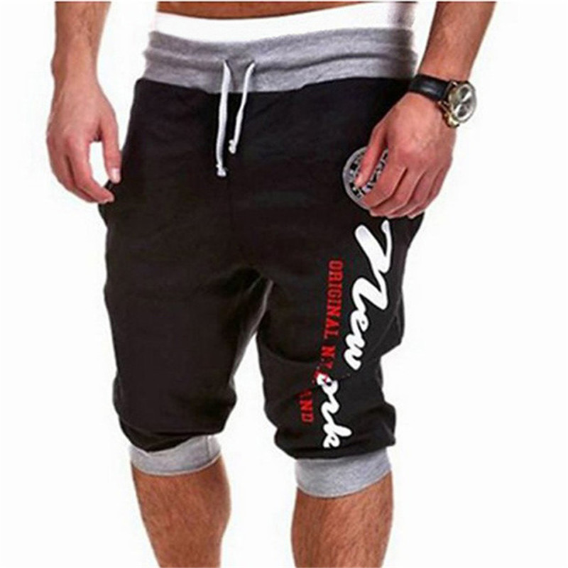 COULHUNT Latest Fashion Casual Skinny Short Summer Men's Capri Cropped Sweatpants Trouser 2017 New  Elastic Waist Cargo Shorts