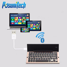 Foldable Bluetooth Keyboard 3.0 USB Cable QWERTY Mini Keyboards for Apple iPhone iPad MacBook IOS Android Tablet PC Computer