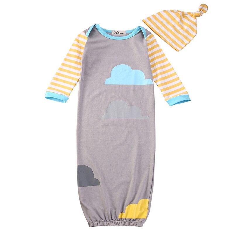 Baumwolle Infant Baby Kleidung Sets Jungen Langarm Einem Stück Neugeborene Baby Swaddle Wrap Blanket Schlafsack Hut 0- 12 Monthes Exzellente QualitäT
