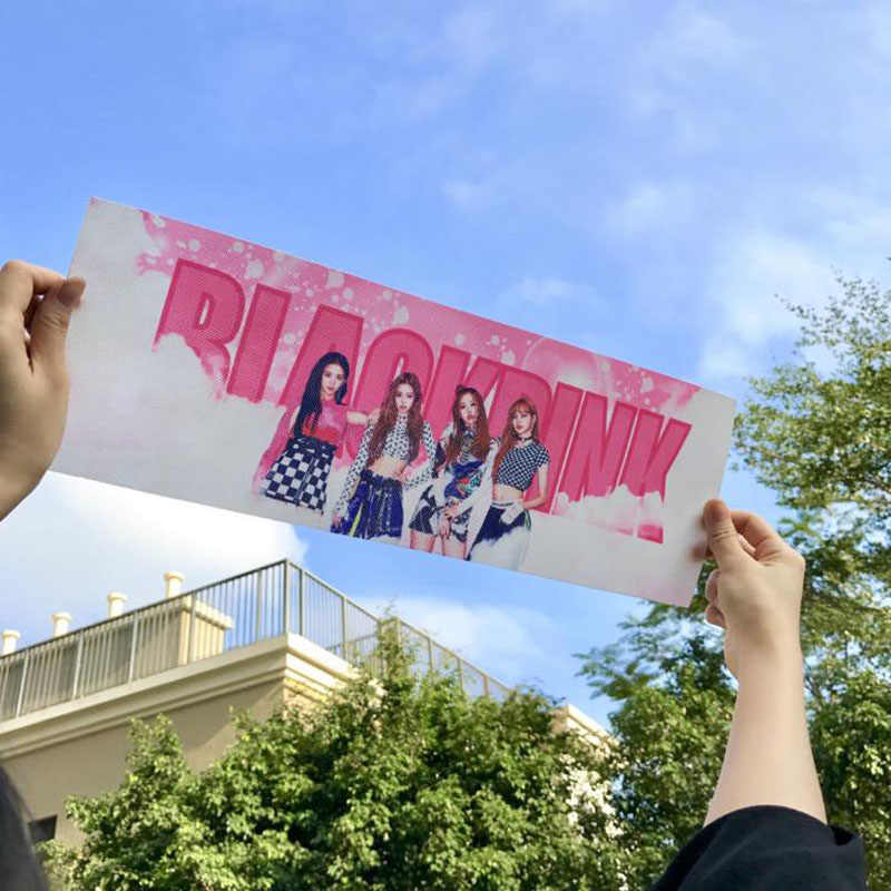 1 Pcs Kawaii Kpop TWICE Blackpink Concert Support Hand Banner Fabric Hang Up Poster Stationery Set for Fans Friends Gift