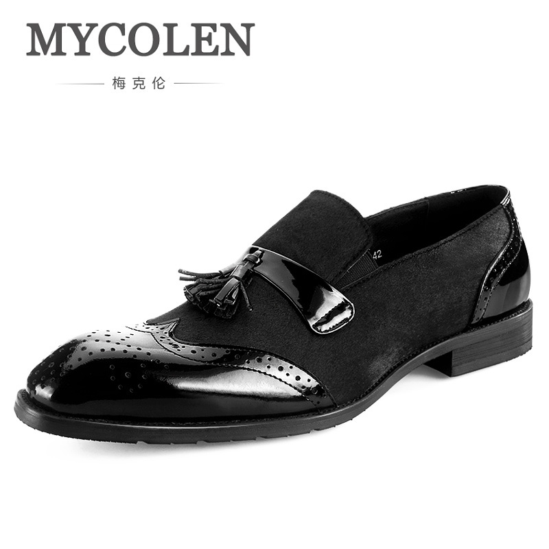 MYCOLEN The New Listing Brand Tassel Men Shoes Breathable Comfortable Men Loafers Luxury Men's Men Brogue Casual Shoes the new listing luxury living room