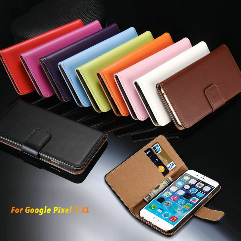 Leather Phone Case For Google Pixel 3XL Flip Book Case For Google Pixel 3XL Business Wallet Case Silicone Back Cover