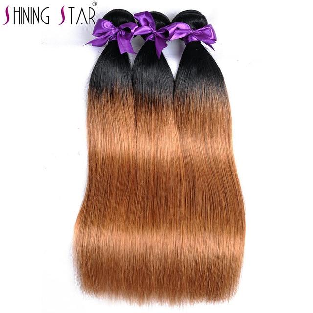Blonde Ombre Hair 3 Bundles 100 Peruvian Straight Human Hair