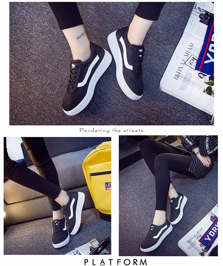 Free Shipping 2016 New Fashion Women Casual Shoes Comfortable Lace-up Woman Flats Classic Round Toe Sports Shoes ST427 (6)