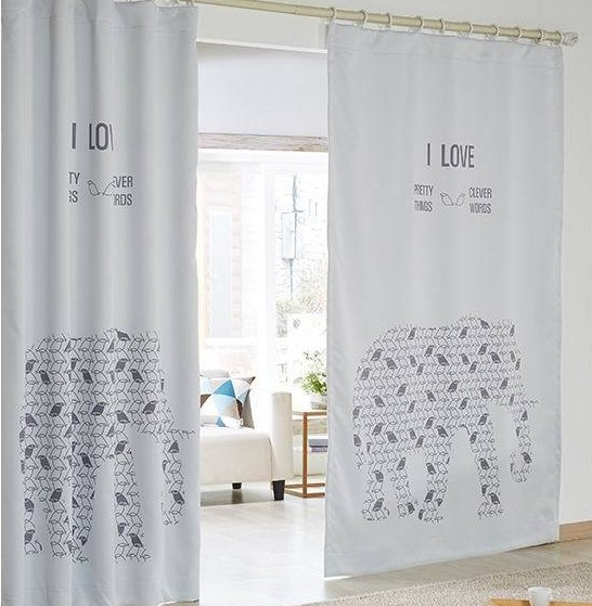 2015 New Cartoon Elephant Print Window Curtain For Living Room Lovely Baby Curtains In From Home Garden On Aliexpress