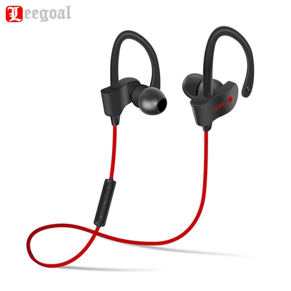 Leegoal 56 s Sport In-Ear Auricolare Bluetooth Senza Fili Auricolari Stereo Headset Bass Auricolari con Il Mic per il iphone Samsung Telefono