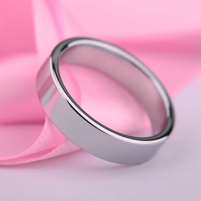 New Arrival High Polished Tungsten Wedding Band Rings Flat Top for Man and Woman Size 4-13 Free Shipping