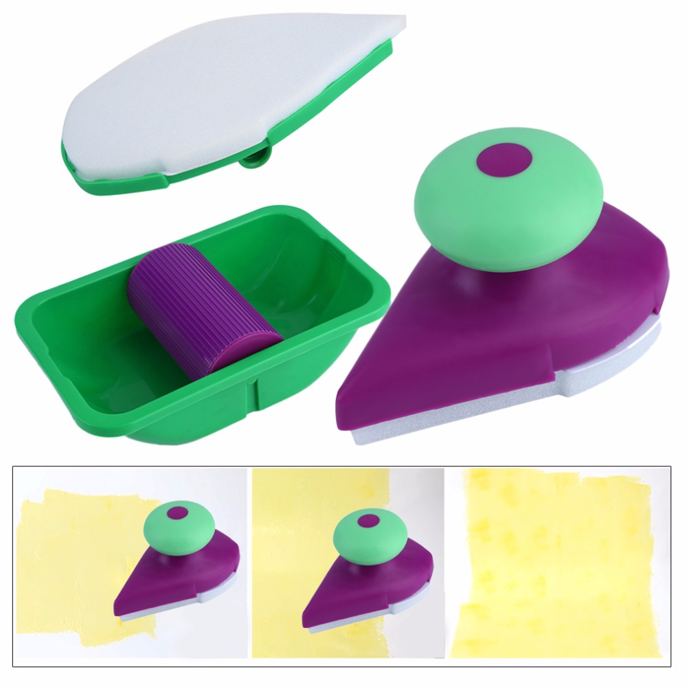 2017 Home Use Decorative Paint Roller and Tray Set Painting Brush paint pad pro Point N Paint Household Wall Tool