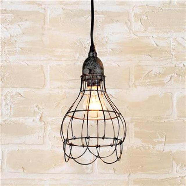 Vintage Flower Basket Design Pendant Light Chandelier Wire Cage ...