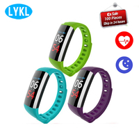 2018 G19 Smart Wristband Fitness Tracker Heart Monitor Rate Blood Pressure Oxygen Sleep Monitor Wearable Devices Smart Bracelet
