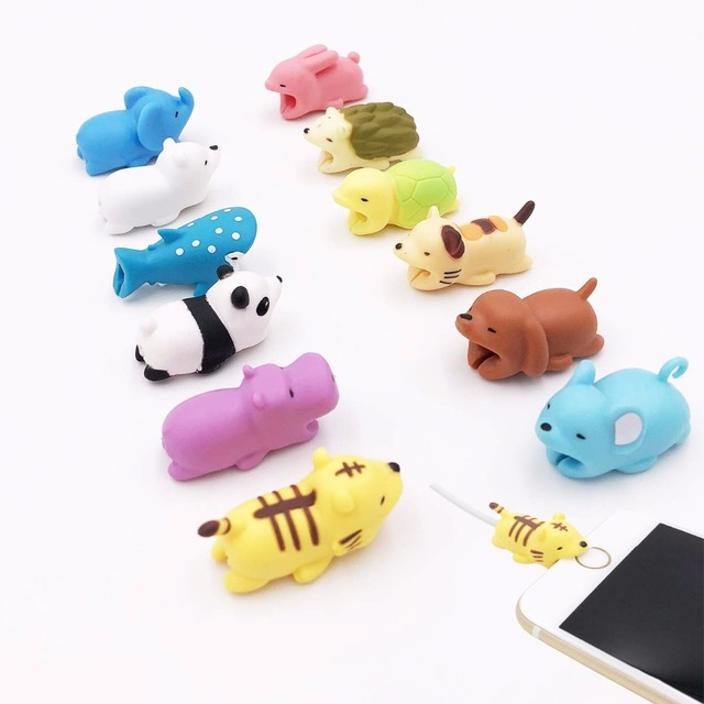 新しいケーブルワインダーかわいい動物咬傷ケーブル iphone ケーブル Chompers ワインダーオーガナイザーパンダかむ人形モデルホルダー