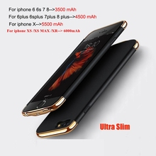 Для iphone 6S 7 8 Портативный Батарея зарядки телефона чехлы для iphone XS XR Одежда высшего качества зарядки Батарея случае Мощность Bank 5500 mA