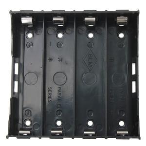10х держатель батареи Коробка Чехол черный для 4x13,7 V 18650 батареи