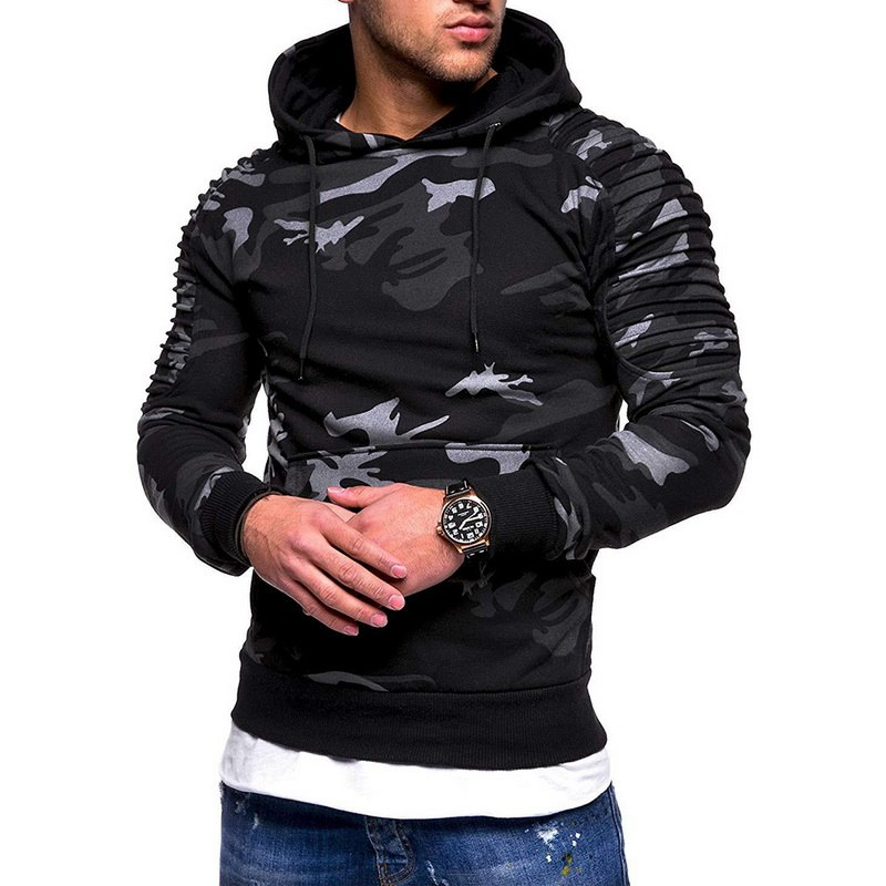 Fashion Camoflauge  Hoodies Sweatshirts Military Camo Hoodies Pullovers Casual Hip Hop Oversized Streetwear Hoody 5