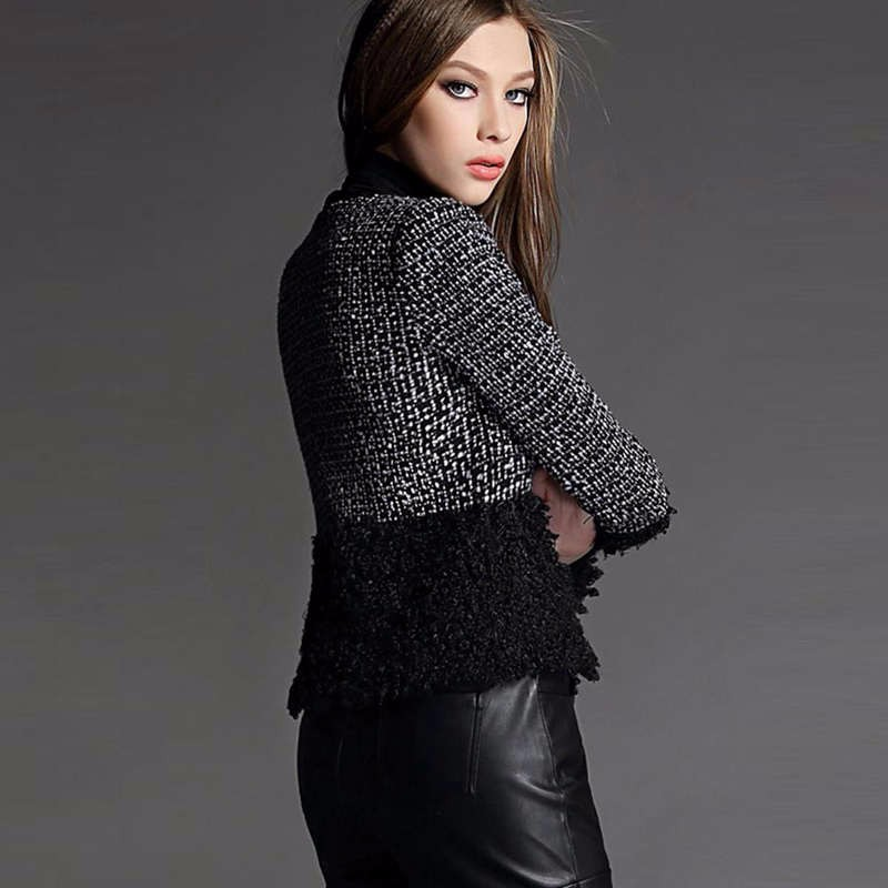 fall winter black wool coat 3