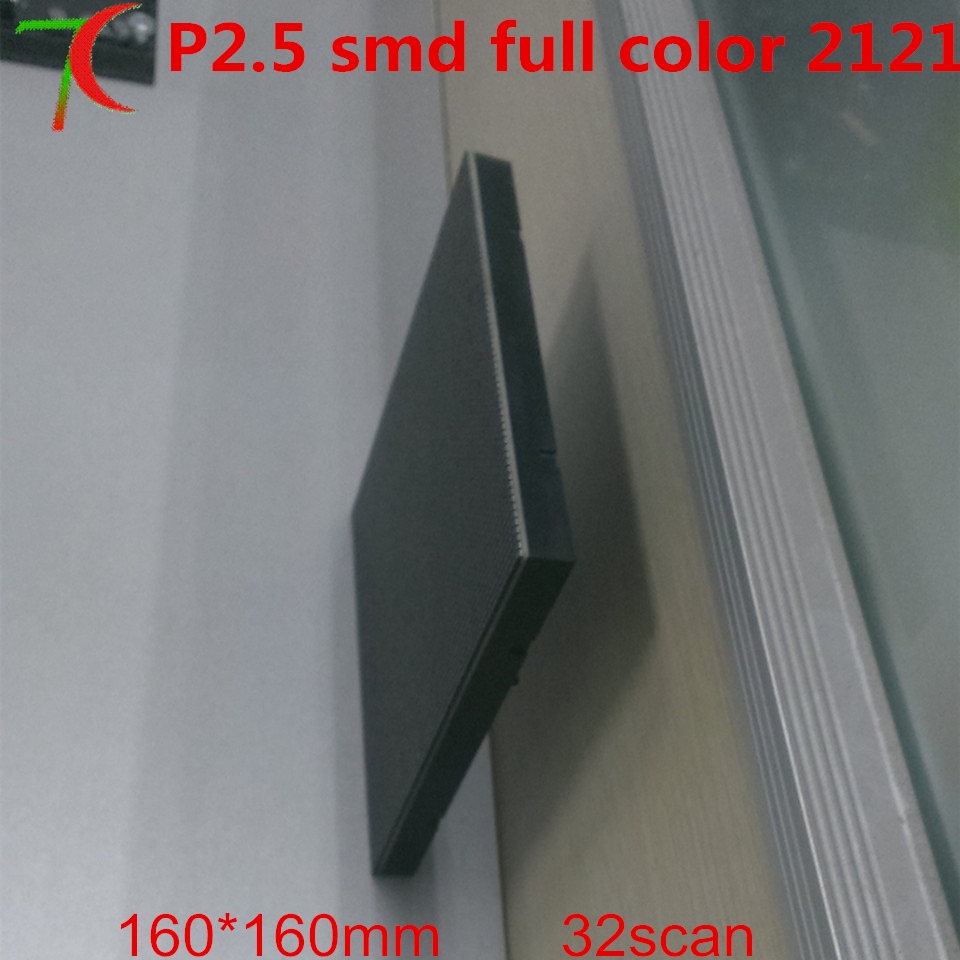Watch 32s P2.5 Indoor  Full Color Module Install On The Wall For Commercial Advertisement ,160mm*160mm